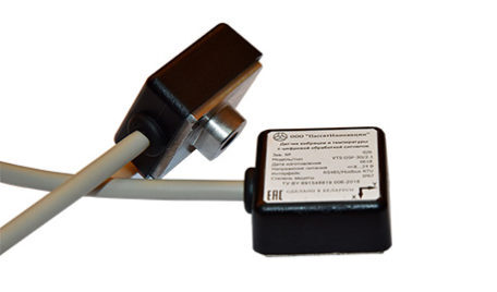 Vibration and Temperature Sensor with Digital Signal Processing
